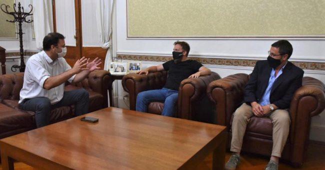 El diputado Otermin recibio al Intendente Barroso y al Dip Vivani a quienes les dio el compromiso