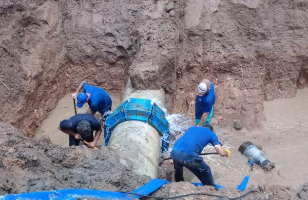 Reparacion del acueducto en el km 292 de ruta nacional 5
