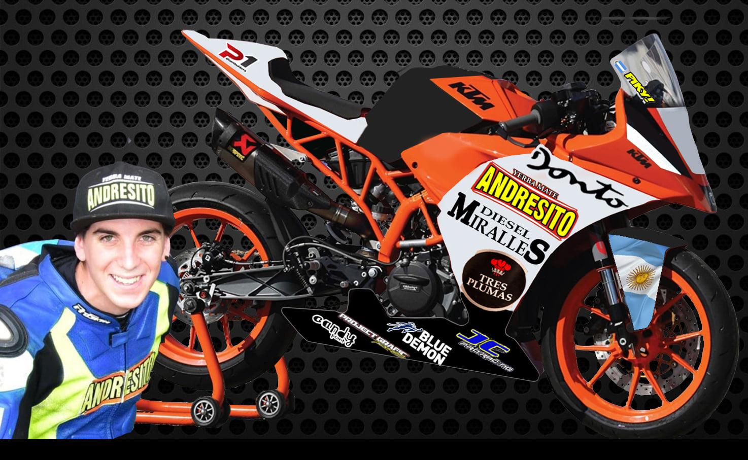 Motociclismo: «Piki» Pastorino se convierte en piloto internacional