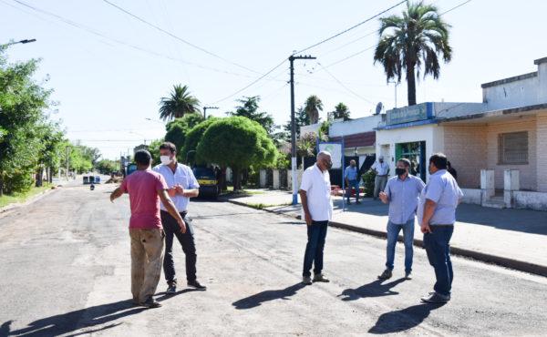 Visita de funcionarios a Quiroga