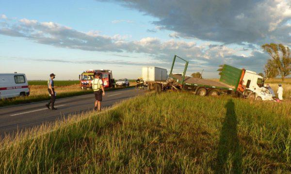 El accidente fue en ruta 188 en cercanias de Realico LP- foto Infotecrealico