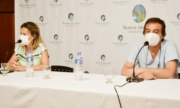Zapata y Gentile ante la prensa