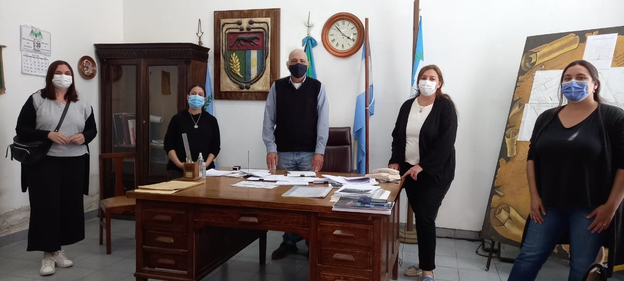 El equipo de Desarrollo Comunitario en la Delegación de Quiroga